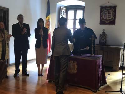 Raül González jura el càrrec de President del Consell d'Administració de l'AFA